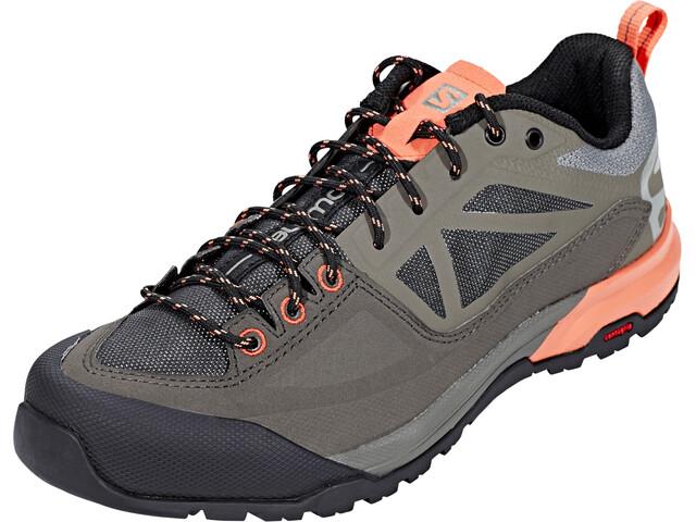 Salomon X Alp Spry Hiking Shoes Damen castor gray/beluga/living coral